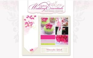 Branding and table runner design for Custom Wedding Essentials.