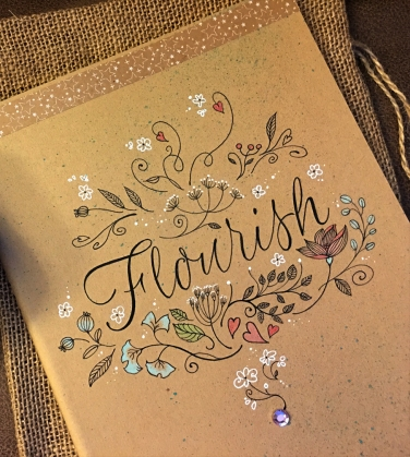 This journal is all original art drawn directly on the cover. Sold.