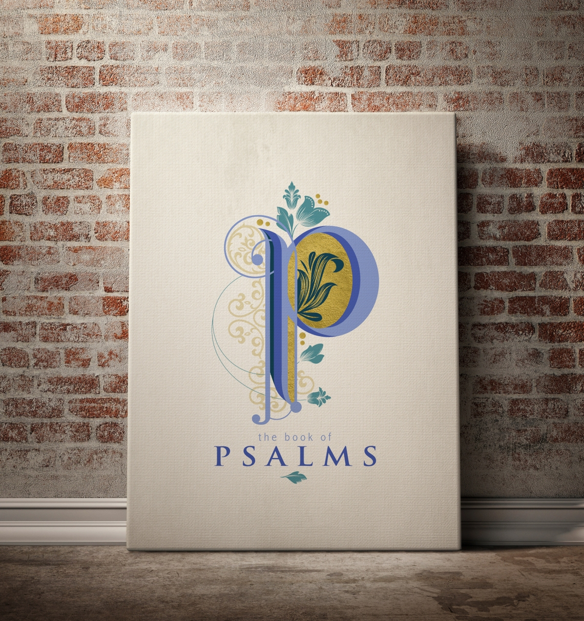 mock up poster and canvas in vintage interior background