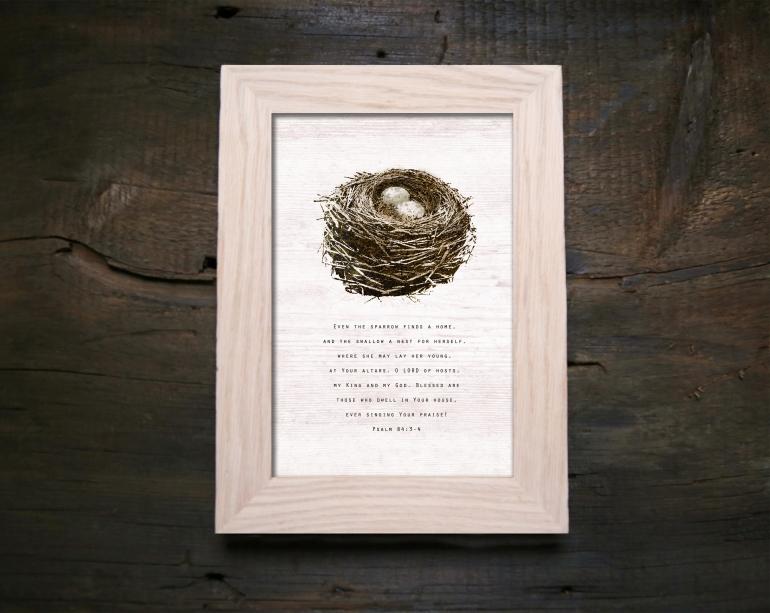 Sparrow Nest Print Photo