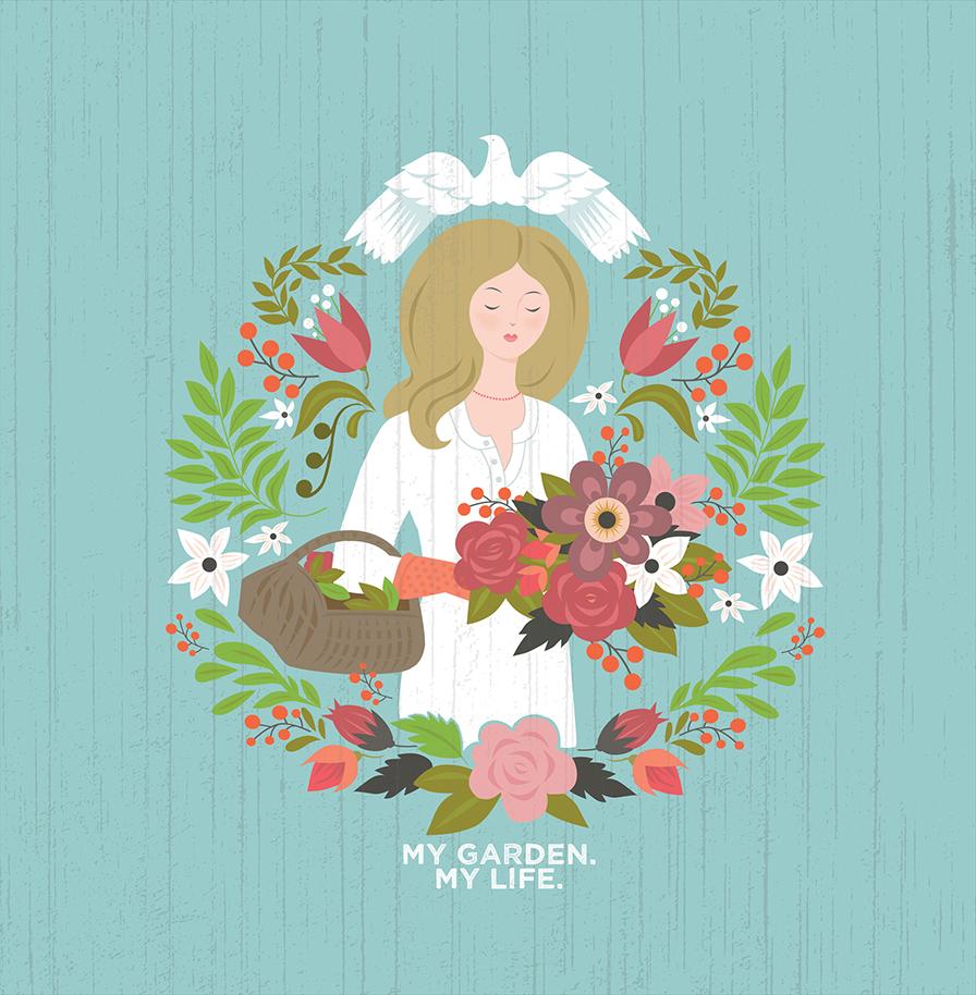 Garden Girl One Semi Merged sm