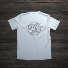 White blank t-shirt on old wooden background